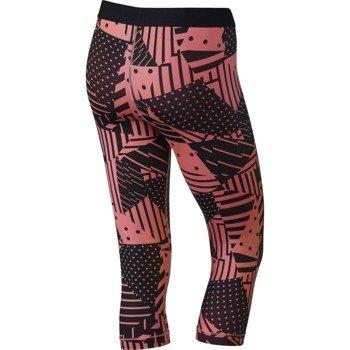 spodnie termoaktywne damskie 3/4 NIKE PRO PATCH WORK CAPRI / 689832-654