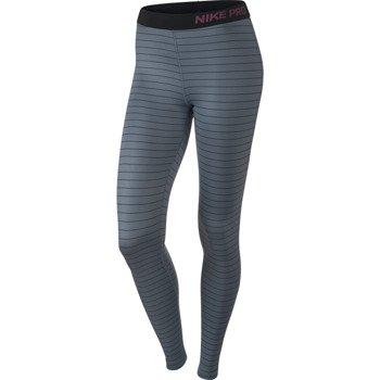 spodnie termoaktywne damskie NIKE PRO HYPERWARM STRIPE TIGHT / 642632-494